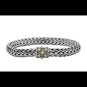 John Hardy small SS oval chain bracelet